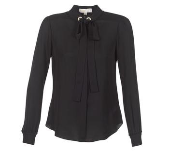 Vêtements Femme Tops / Blouses MICHAEL Michael Kors GROMMET NK TIE BLSE Noir