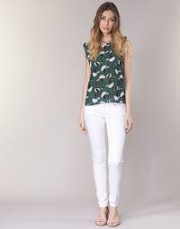 Abbigliamento Donna Pantaloni 5 tasche Le Temps des Cerises 316 Bianco