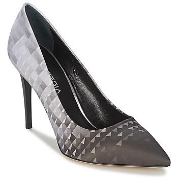 Chaussures Femme Escarpins Strategia BALSORANO Noir / Gris