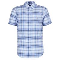 Abbigliamento Uomo Camicie maniche corte Gant BLUE PACK MADRAS REG Blu