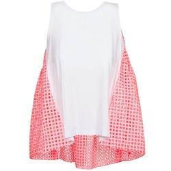 Abbigliamento Donna Top / T-shirt senza maniche Manoush AJOURE CARRE Bianco / Rosa