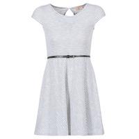 Kleidung Damen Kurze Kleider Moony Mood IKIMI Weiß / Marineblau