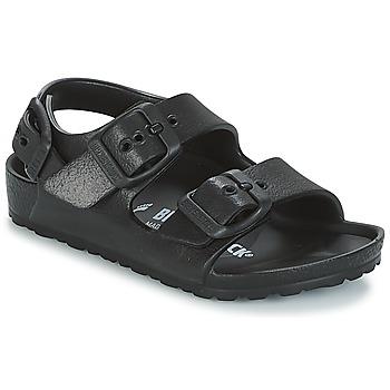 Schuhe Jungen Sandalen / Sandaletten Birkenstock MILANO-EVA Schwarz