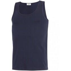 Vêtements Homme Débardeurs / T-shirts sans manche Impetus Débardeur col rond Cotton Organic bleu marine Bleu