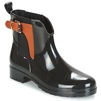 Chaussures Femme Bottes de pluie Tommy Hilfiger OXLEY Noir