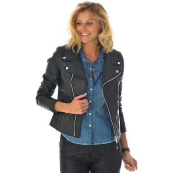Vêtements Femme Vestes en cuir / synthétiques Schott LCW8614 BLACK Noir