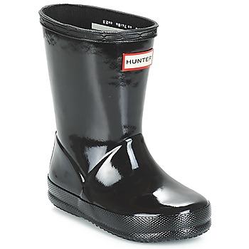 Schuhe Mädchen Gummistiefel Hunter KIDS FIRST CLASSIC GLOSS Schwarz