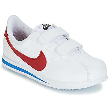 Schuhe Jungen Sneaker Low Nike CORTEZ BASIC PRE-SCHOOL Weiss / Blau / Rot