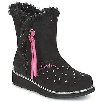 Schuhe Mädchen Schneestiefel Skechers SPARKLES Schwarz / Rose