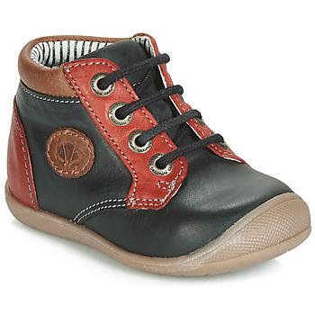 Scarpe Bambino Sneakers alte Catimini RAYMOND Nero / Rosso