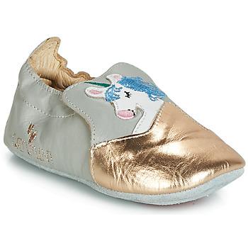 Scarpe Bambina Pantofole Catimini LICORNETTE Grigio / Oro