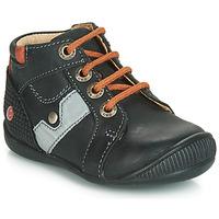 Chaussures Garçon Baskets montantes GBB REGIS Noir / Orange