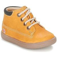 Scarpe Bambino Sneakers alte GBB NORMAN Marrone / Mostarda