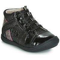 Scarpe Bambina Sneakers alte GBB ROSETTA Nero / Argento