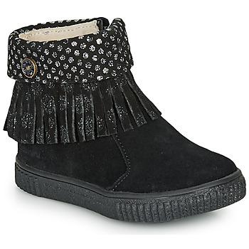 Schuhe Mädchen Boots Catimini PERETTE Schwarz