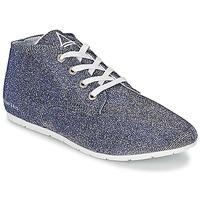 Schuhe Damen Sneaker Low Eleven Paris BASGLITTER Silber