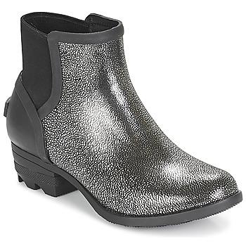 Schuhe Damen Boots Sorel JANEY CHELSEA Schwarz / Silbern