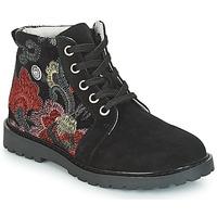 Chaussures Fille Boots Catimini CAHAUT Noir