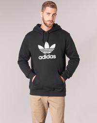 Kleidung Herren Sweatshirts adidas Originals TREFOIL HOODIE Schwarz