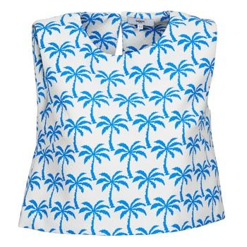 Kleidung Damen Tops Suncoo LANA Weiss / Blau
