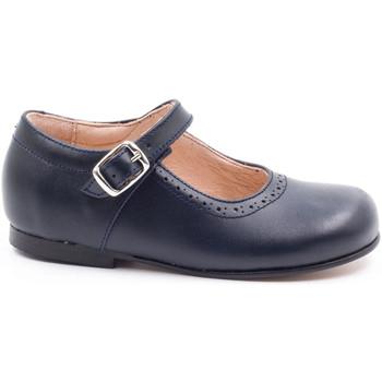 Chaussures Fille Ballerines / babies Boni & Sidonie Babies en cuir à boucles - AGATHE Bleu Marine