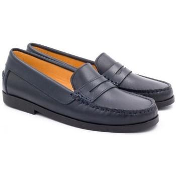 Chaussures Enfant Mocassins Boni & Sidonie Mocassins en cuir - HORACE Bleu Marine