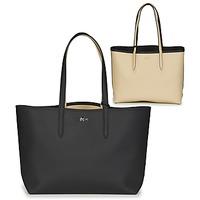Borse Donna Tote bag / Borsa shopping Lacoste ANNA Nero / Beige