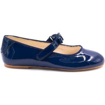 Chaussures Fille Ballerines / babies Boni & Sidonie Ballerines vernies cérémonie - CLARA Bleu Marine