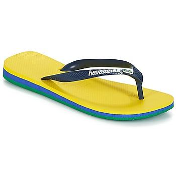 Chaussures Tongs Havaianas BRASIL LAYERS Jaune