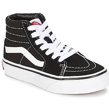 Chaussures Enfant Baskets montantes Vans UY SK8-HI Noir / Blanc
