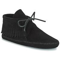 Chaussures Femme Boots Minnetonka CLASSIC FRINGE Noir