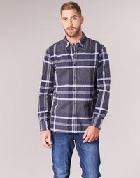 Abbigliamento Uomo Camicie maniche lunghe Oxbow CAMPO Marine