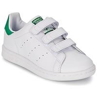 Chaussures Enfant Baskets basses adidas Originals STAN SMITH CF C Blanc / vert