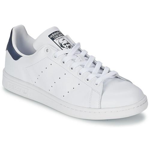 Scarpe Sneakers basse adidas Originals STAN SMITH Bianco / Blu