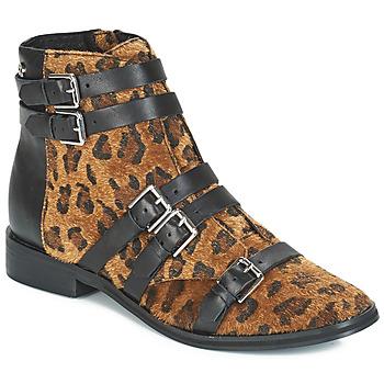 Chaussures Femme Boots Le Temps des Cerises IZY Léopard