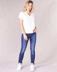 Vêtements Femme Jeans droit G-Star Raw MIDGE SADDLE MID STRAIGHT Bleu Medium Aged