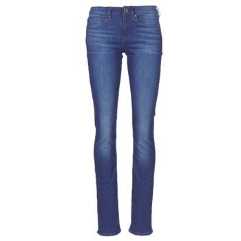 Kleidung Damen Straight Leg Jeans G-Star Raw MIDGE SADDLE MID STRAIGHT Blau