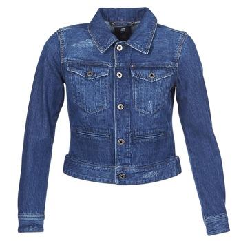 Kleidung Damen Jeansjacken G-Star Raw D-STAQ DC DNM Blau