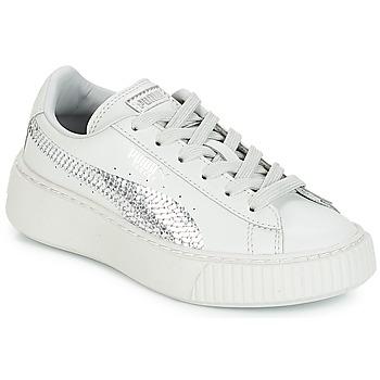Schuhe Mädchen Sneaker Low Puma G PS B PLATFORM BLING.GRAY Grau