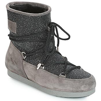 Scarpe Donna Stivali da neve Moon Boot FAR SIDE LOW SUEDE GLITTER Nero / Grigio