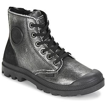 Schuhe Damen Boots Palladium PAMPA HI Silbrig