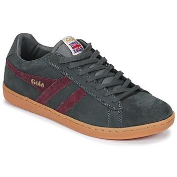 Schuhe Herren Sneaker Low Gola Equipe Suede Grau / Bordeaux