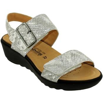 Chaussures Femme Sandales et Nu-pieds Mobils By Mephisto Folina Gris cuir