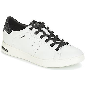 Chaussures Femme Baskets basses Geox JAYSEN Blanc / Argenté