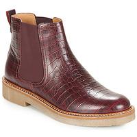 Chaussures Femme Boots Kickers OXFORDCHIC Bordeaux