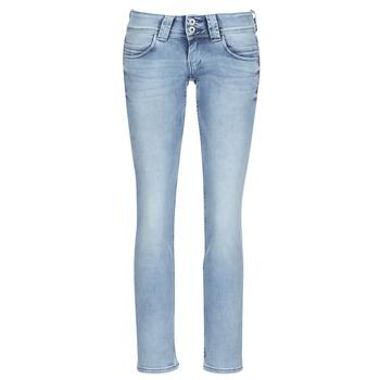 Kleidung Damen Straight Leg Jeans Pepe jeans VENUS Blau / Hell
