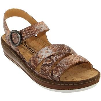 Chaussures Femme Sandales et Nu-pieds Mobils By Mephisto Lucie Beige Rosé cuir