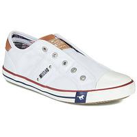 Schuhe Damen Sneaker Low Mustang NAJERILLA Weiß