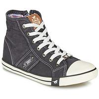 Schuhe Damen Sneaker High Mustang GALLEGO Schwarz