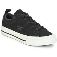 Chaussures Enfant Baskets basses Converse ONE STAR NUBUCK OX Noir / Blanc